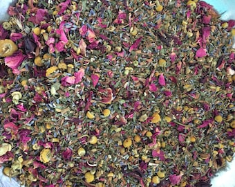 Peace Tea Handmade Organic Caffeine Free Loose Leaf Herbal Tea 250 ML per bag Approximately 50 cups per bag