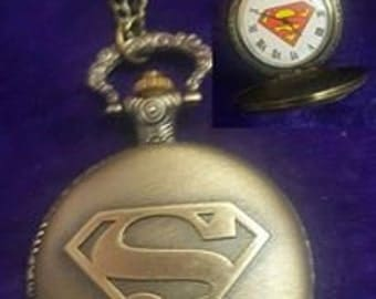 Superman Fob Watch in antique bronze