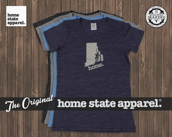 Rhode Island Home. T-shirt- Womens Cut