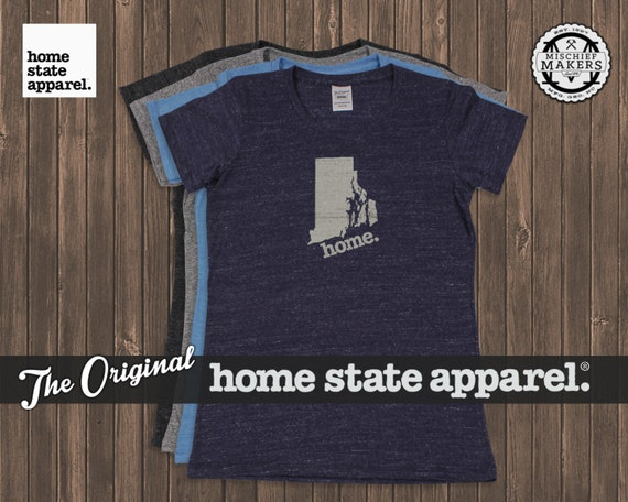 Rhode island home t shirt womens cut for T shirt printing providence ri