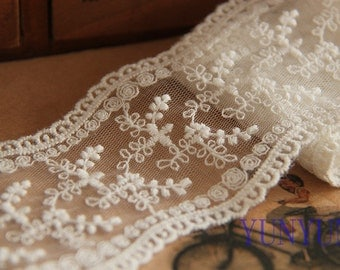 Lace Fabric Wedding Decoration Clothing Decoration DIY Accessories Bridal Decoration Lace Decoration  6cm (2.4inch) Wide 10yards A13