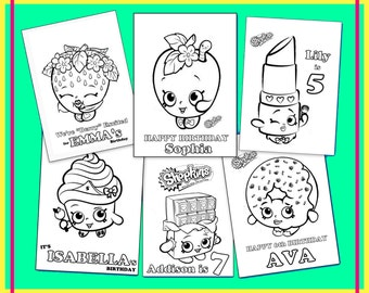 Shopkins coloring etsy ca for Lipstick shopkins coloring page