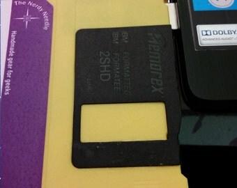 Floppy Disk Flash Drive - Yellow 8GB