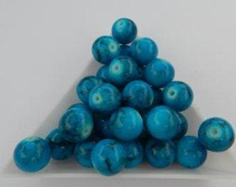 Ocean Blue Glass Beads