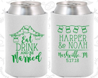 White Wedding, Can Coolers, White Wedding Favors, White Wedding Gift, White Wedding Decor (235)