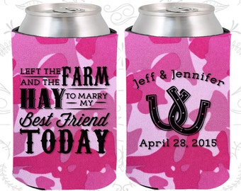 Left the Farm and the Hay to marry my best friend today, Wedding Party Favors, Farm Wedding Favors, Horseshoe Wedding Favors (557)