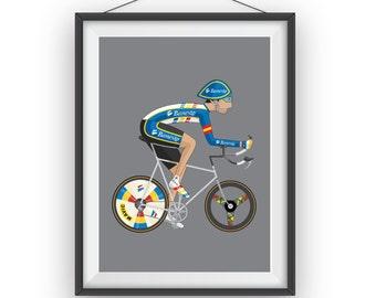 Miguel Indurain Cyclist Print