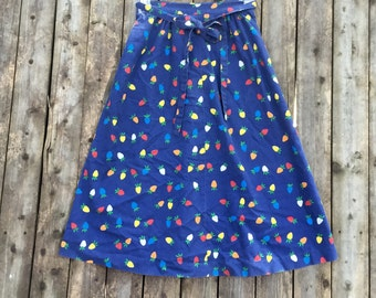 70's Colorful Fruit Wrap Skirt