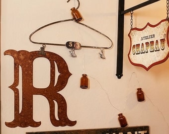 Rusty Rustic Metal Letter - Letter, Size & Font of Your Choice