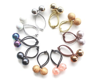 GLAM HAIR BOBBLES. Pick and Choose. Retro Hair Ties Bobbles. Shiny, Gold, Pearl, Shimmer bobbles.
