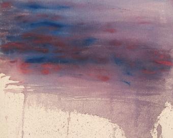 Original Abstract Acrylic Painting - 18x24x 1 inch  Rain and Galaxy
