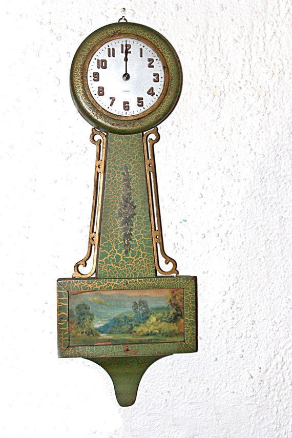 Antique Gilbert 1807 Banjo Clock In Excellent By