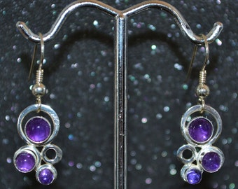 Sterling Small Bubbles Earrings - Choose A Gemstone!