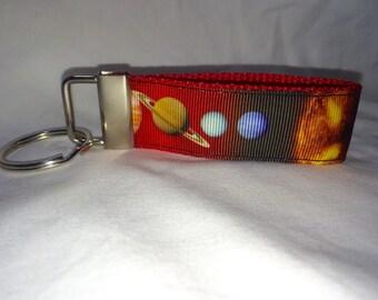 Planets strap keychain