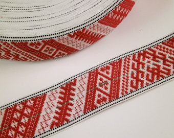 "1 m Woven Ribbon ""Gotland"" 30 mm w 100 % cotton from Sweden"