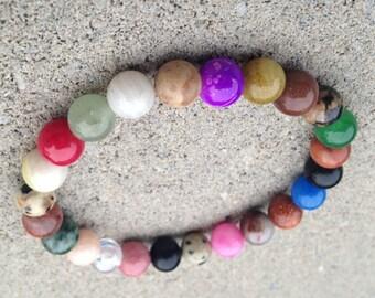MIXED STONE ENERGY 8mm Gemstone Bracelet Custom Made-to-Order
