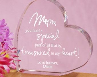Personalized Engraved Treasured In My Heart Keepsake