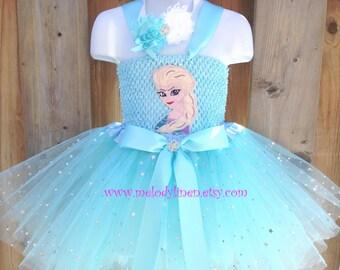 Frozen tutu elsa tutu snow queen tutu Frozen outfit Frozen birthday party elsa dress frozen headband christmas gift frozen birthday outfit