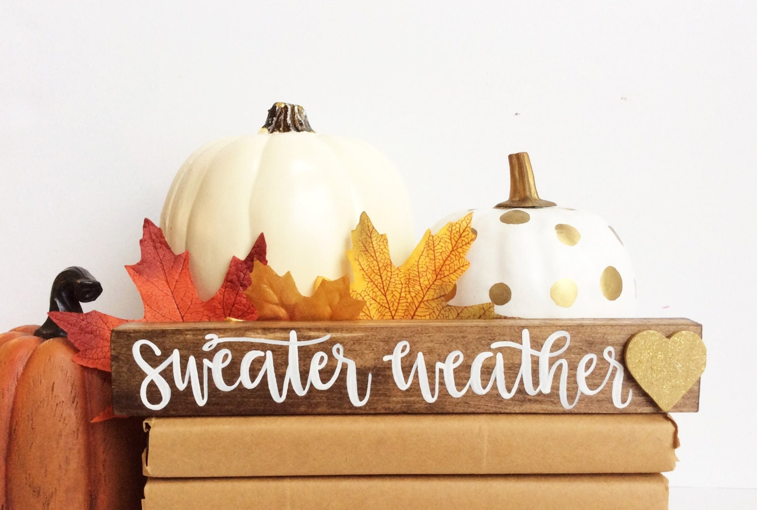 Thanksgiving decor mantle - Fall Wood Sign Fall Decor Sweater Weather Fall Mantle Calligraphy Hand