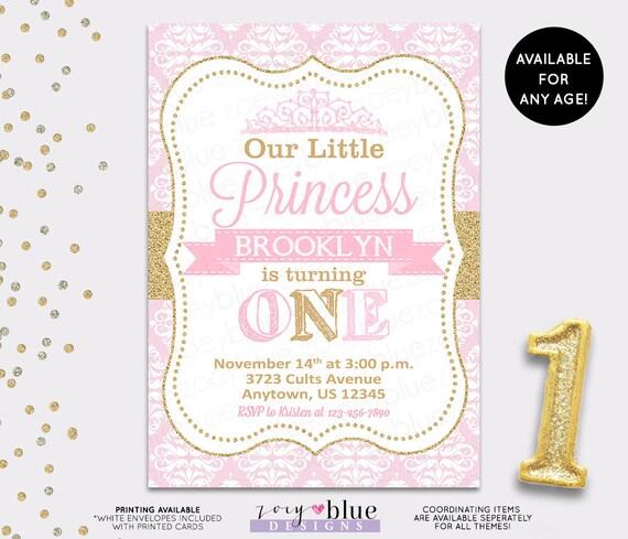 PRINCESS BIRTHDAY INVITATION Princess Invitation First