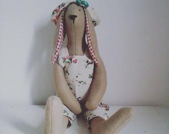 Tilda sitting rabbit decorative soft toy