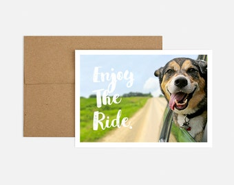 Enjoy the Ride Birthday Greeting Card