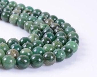 "8MM73 African jade round ball loose gemstone beads 16"""