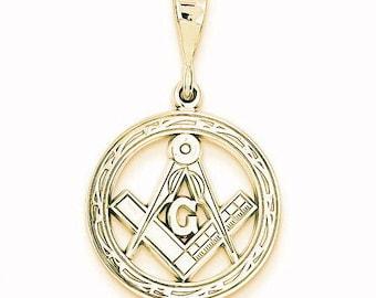 Polished Flat-Backed Small Masonic Charm (D1251)