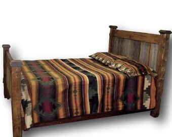 Barn Wood Gray Panel Bed