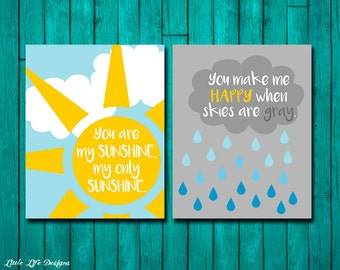 You Are My Sunshine Wall Art. You Are My Sunshine Sign. My Only Sunshine. You Make Me Happy. Sunshine Sign. You are my sunshine Wall Decor.