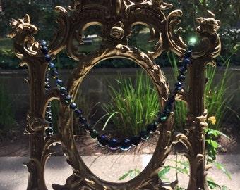 Vintage Carnival Glass Necklace