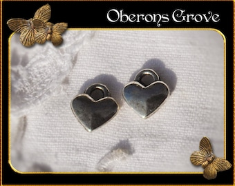 20 heart charms silver 7x8mm