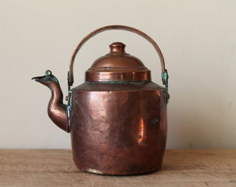 Antique Copper Teapot - Handmade - Small - Dovetailed - Kettle - Copperwear