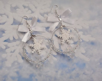 earrings snowflake