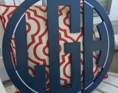 PAINTED Circle Cut Triple Monogram || Newborn Nursery Monogram || Welcome Home || It's a Boy || It's a Girl || It's TWINS|| Miss to MRS