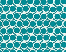 Half Yard - 1/2 Yard of Vintage Teal - ROUND ELEMENTS by AGF Studio - Art Gallery