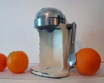 Juice-O-Mat juice maker, vintage orange juice maker, orange juice squeezer, juice machine