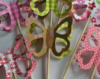 3d Butterfly cupcake toppers