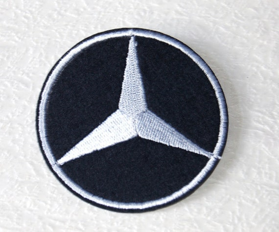 Mercedes Benz Logo Applique Embroidery Fabric Iron On Patch