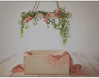 Newborn baby Girl Photography Prop set: box, chandelier