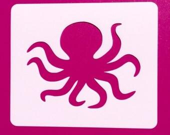 Octopus Stencil, Octopus Mylar Stencil, Octopus Template, Mylar Stencil, Stencil