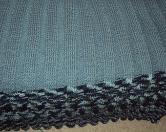 Twin/Full Size Bed Hand Made Crochet Blanket
