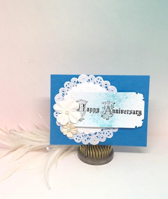 anniversary card paper handmade greetingbylisacardscrafts