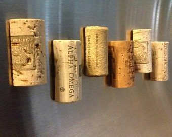 Wedding favor cork magnets