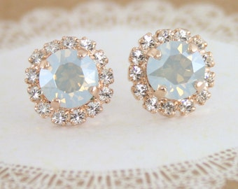 Blue bridal earrings,something blue,dusty blue earrings,dusty blue wedding,Swarovski blue earrings,blue wedding jewelry,powder blue,blue