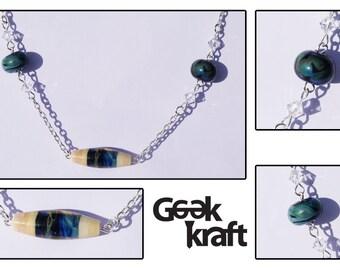 SALE Emily necklace, lampwork necklace