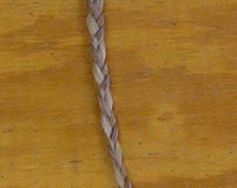 Gray/Red Horse Tail Braid