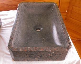 Rectangle Vessel Concrete Sink ... Standard drain hole