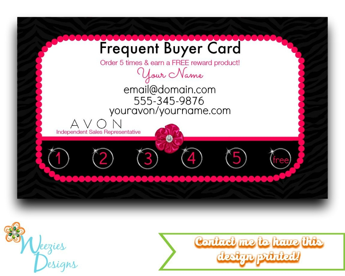 Avon Frequent Buyer Card Business Card Direct by