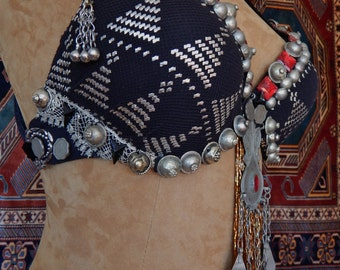 READY-TO-WEAR, Assuit, Assiut Antique Belly Dance Bra, Tribal Fusion, Tribaret